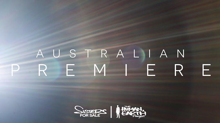 Australian premiere - post title. Spotlight shining.