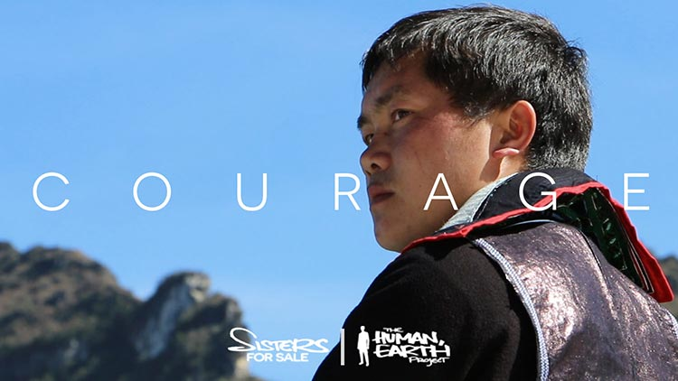 Courage - Post title. Hmong boy looking out into distance.